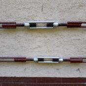 Śrub rzymskie proste z końcówkami do spawania, wzmocnienie murów konstrukcją metalową
